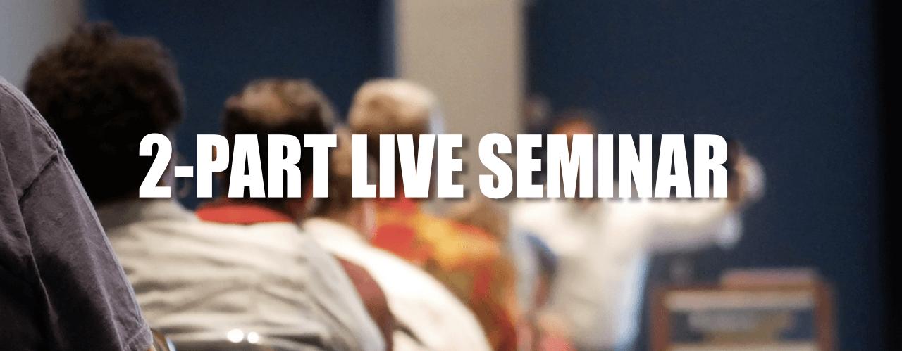 Options Course 2 Part Live Seminar