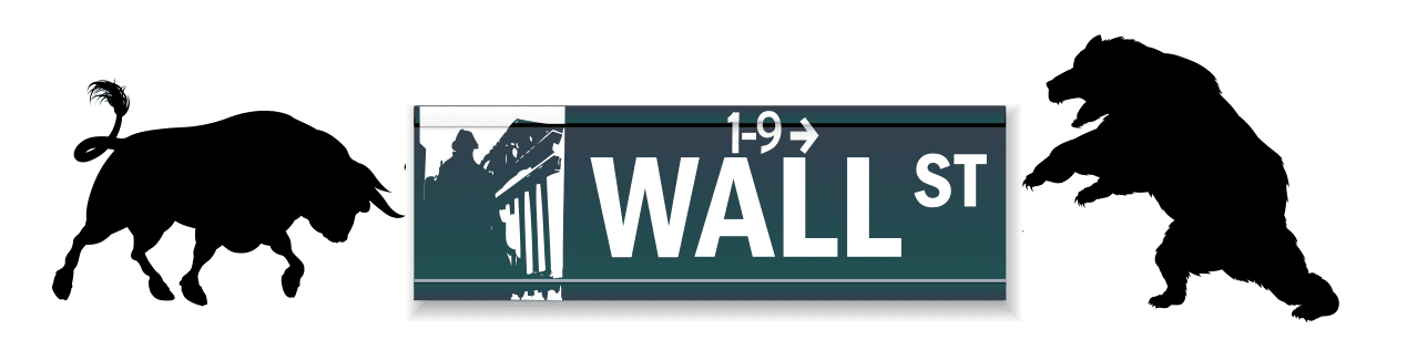 Wall Street Sign Bull Bear