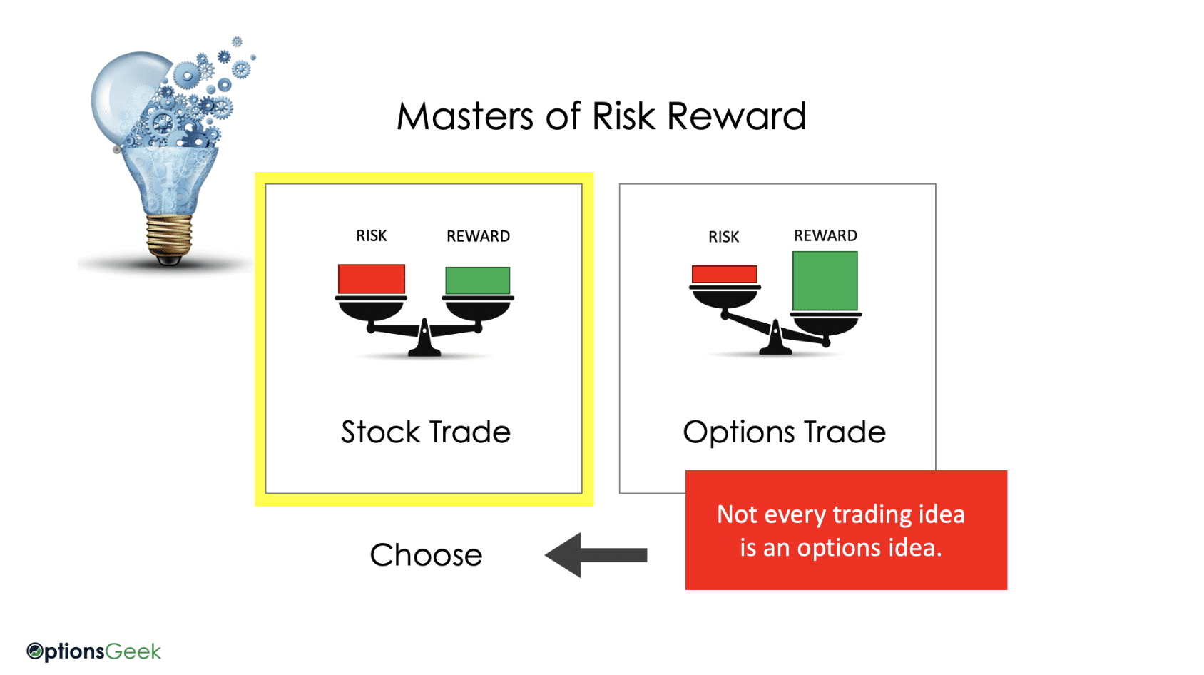 Options vs stock