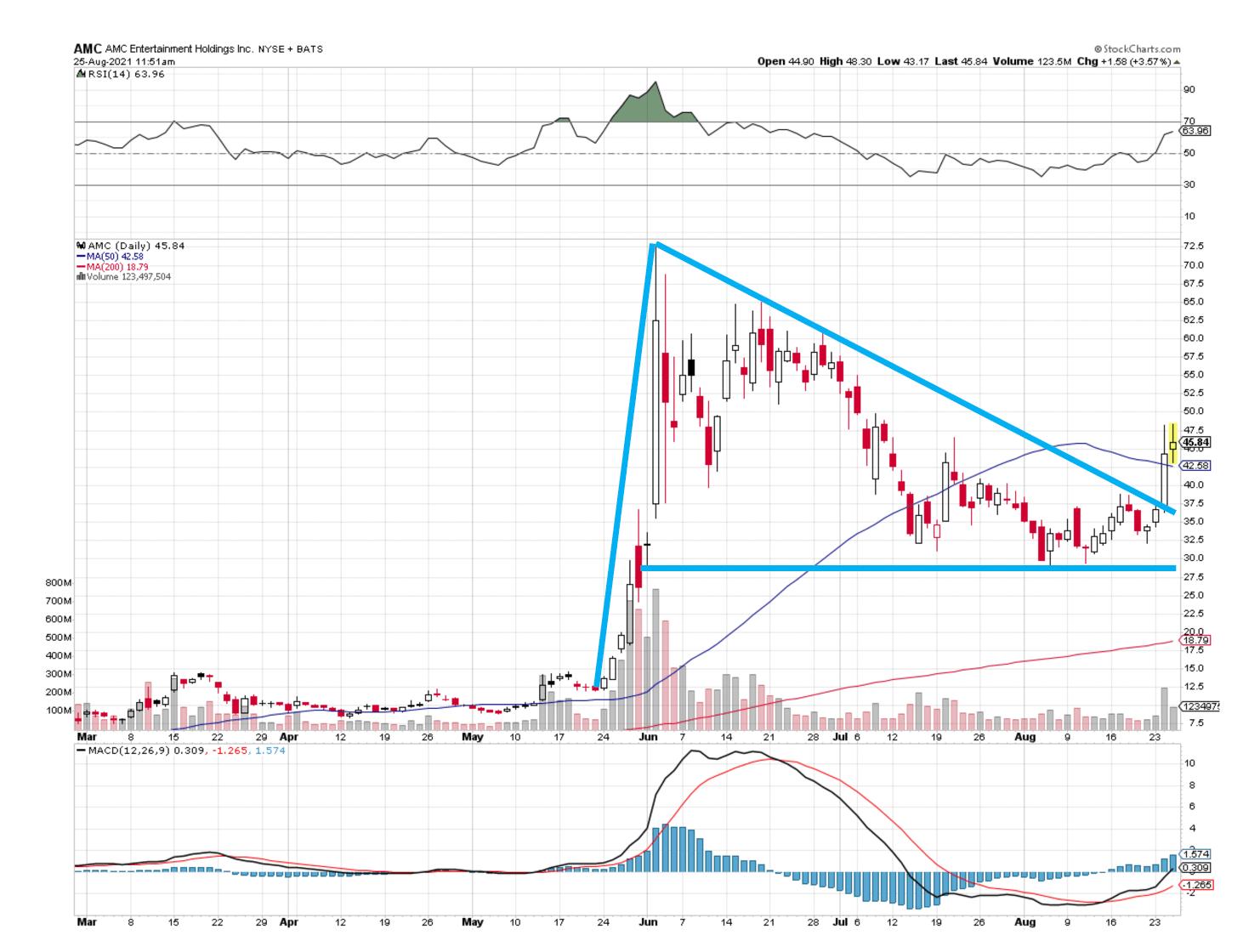 AMC Stock Chart 082521